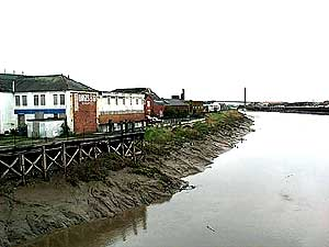 Regeneration zones on the bank of the river Usk