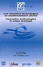 Novatech 2001 Publication of <i>Innovative Design of Attenuation Reservoirs in Urban Areas</i>, Lyon, France